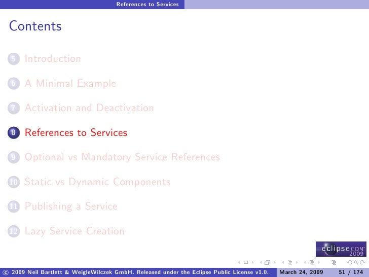 References to Services    Contents        Introduction   5         A Minimal Example   6         Activation and Deactivati...
