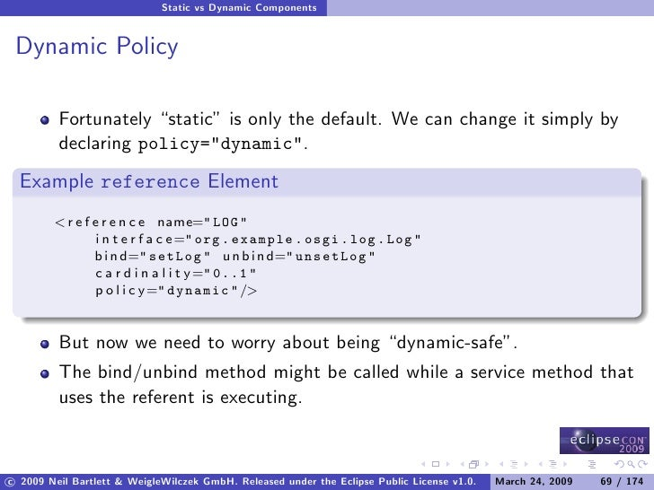 """Static vs Dynamic Components    Dynamic Policy           Fortunately """"static"""" is only the default. We can change it simply..."""