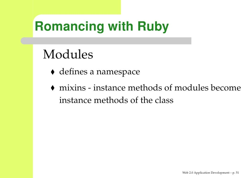 Web 2 0 Application Development With Ruby On Rails