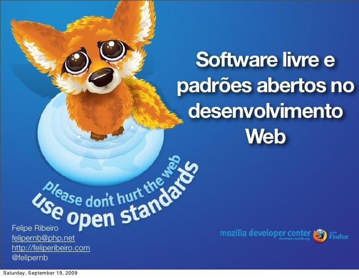 Software livre e                                padrões abertos no                                 desenvolvimento        ...