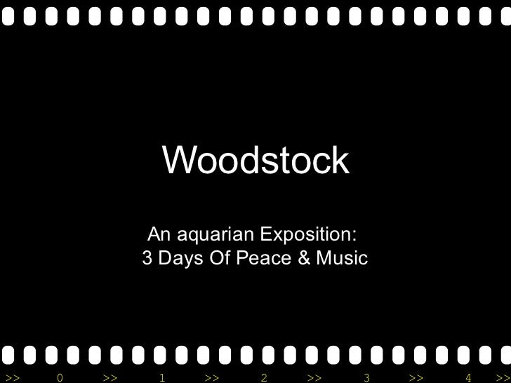 Woodstock An aquarian Exposition:  3 Days Of Peace & Music