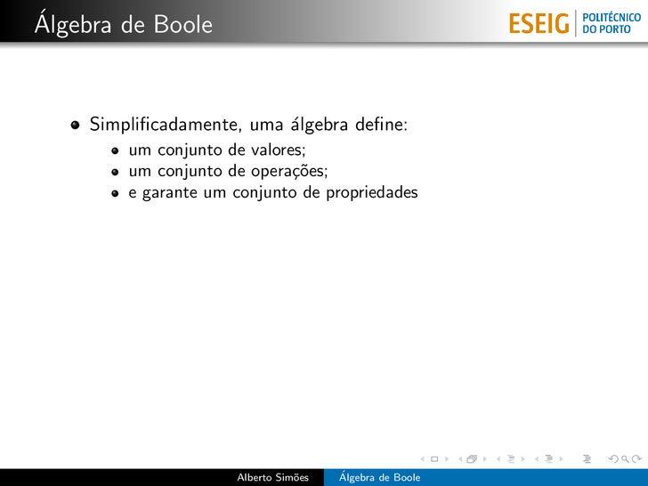 Álgebra de Boole Slide 2