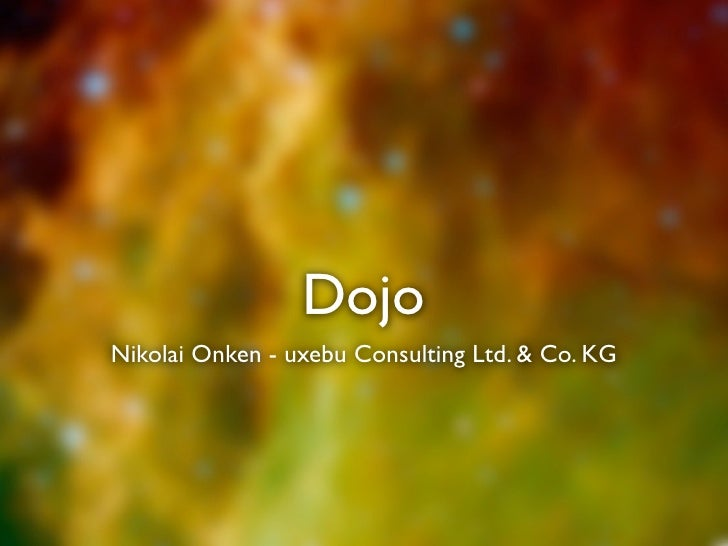Dojo Nikolai Onken - uxebu Consulting Ltd. & Co. KG