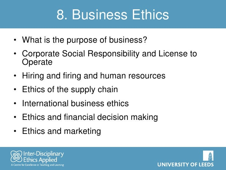 Important Considerations for Any Business Ethics Essay