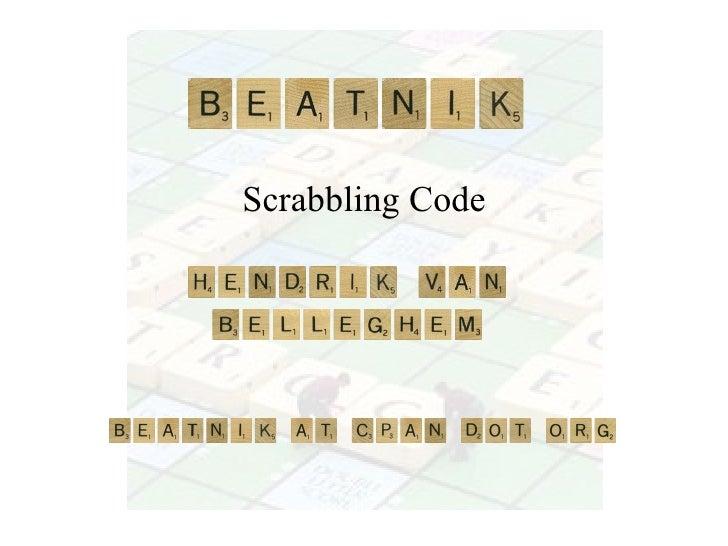Scrabbling Code