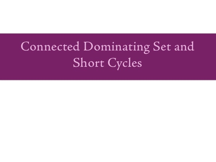 Connected Dominating Set and         Short Cycles