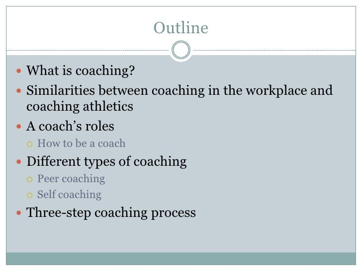 Effective Coaching in the Workplace