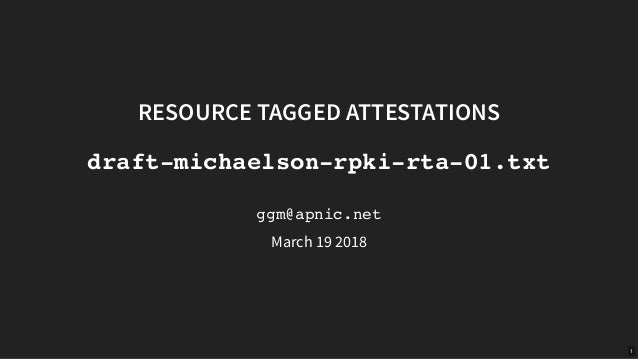 IETF 104: Resource tagged attestations