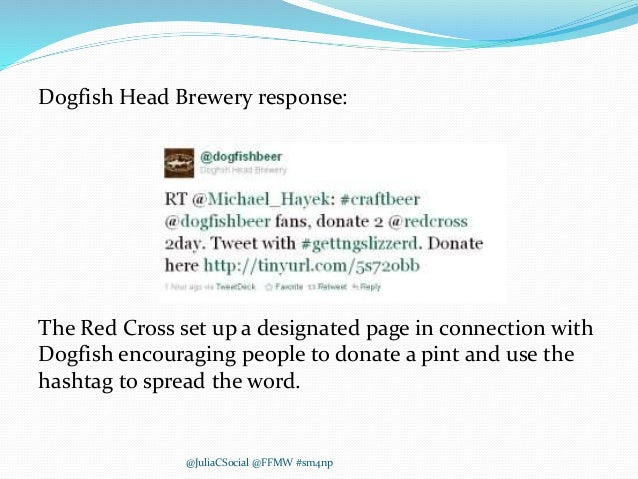 Dogfish Head Brewery response: The Red Cross set up a designated page in connection with Dogfish encouraging people to don...
