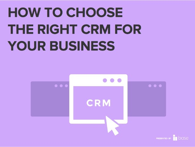 10 THINGS YOU NEED TO KNOW BEFORE CHOOSING A CRM SOLUTION A guide to making a smart decision for your team