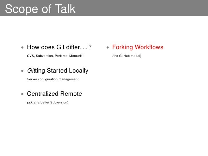 distributed developer workflows using git
