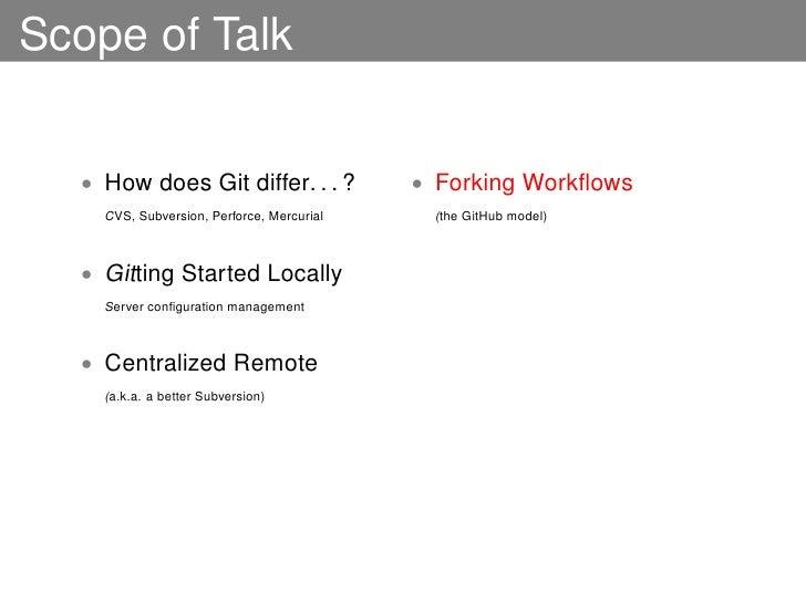 distributed developer workflows using git