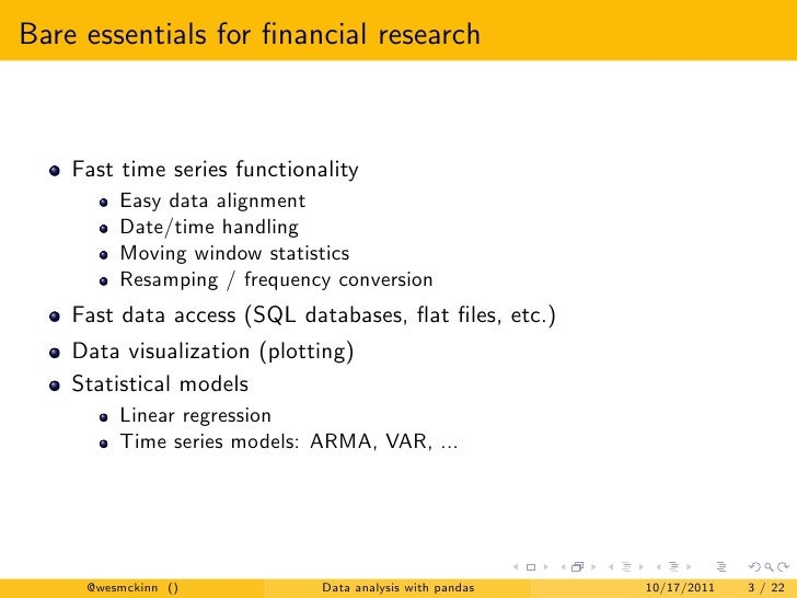 Financial Data Analysis Intro To Python For Financial Data Analysis