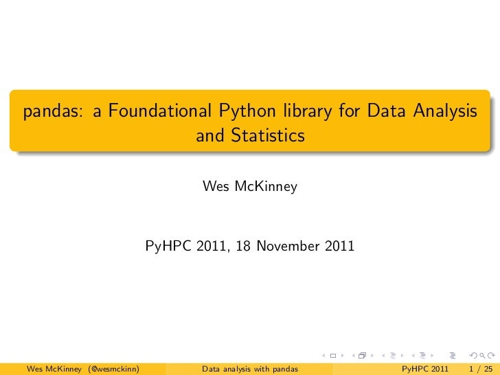 pandas: a Foundational Python library for Data Analysis                    and Statistics                                 ...