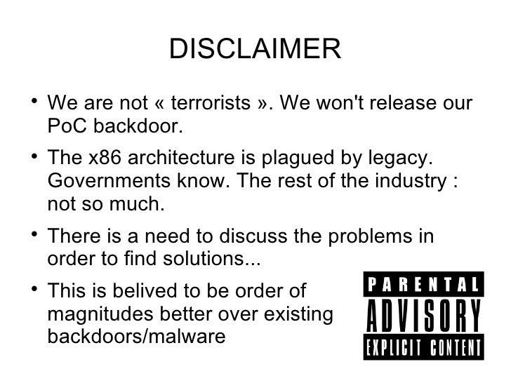 [Hackito2012] Hardware backdooring is practical Slide 2