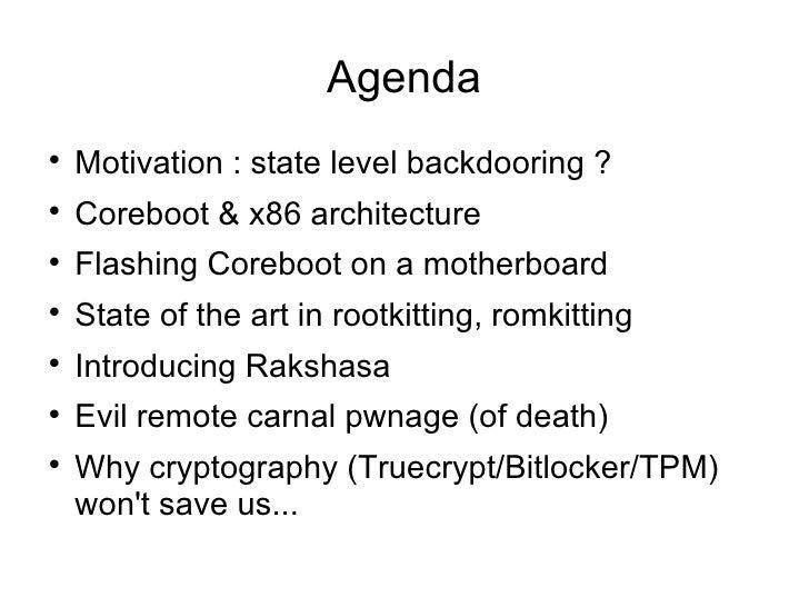 [Hackito2012] Hardware backdooring is practical Slide 3