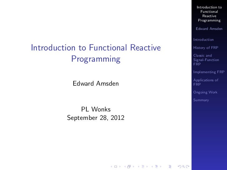 Introduction to                                           Functional                                            Reactive  ...