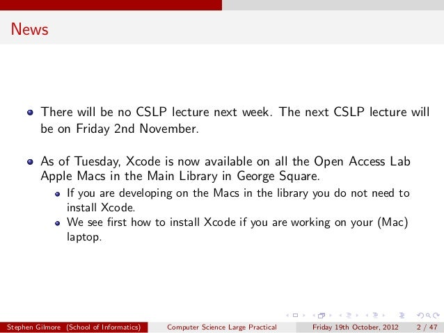 News         There will be no CSLP lecture next week. The next CSLP lecture will         be on Friday 2nd November.       ...