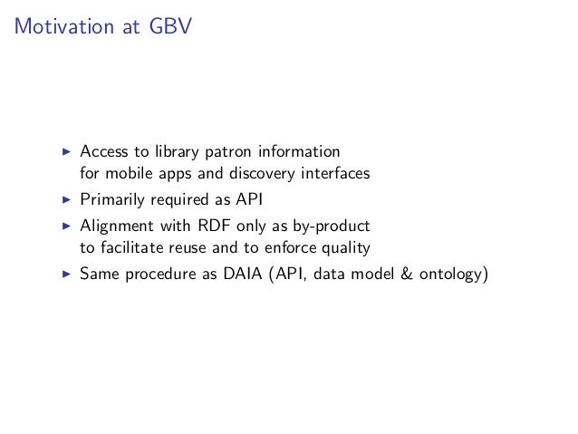 Potential ontologies to build on       BIBO, FRBR, RDA. . . (bibliographic data)       FOAF (people)       SIOC (online co...