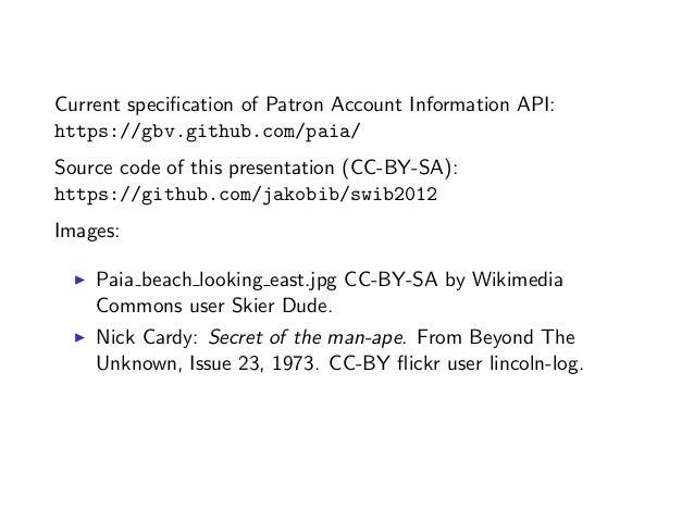 Encoding Patron Information in RDF