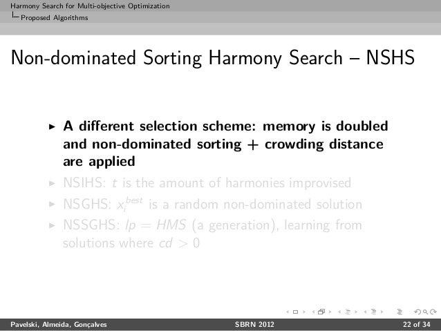 Harmony Search for Multi-objective Optimization - SBRN 2012