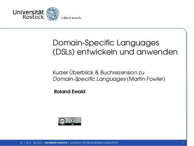 Domain-Specific Languages                             (DSLs) entwickeln und anwenden                             Kurzer Übe...