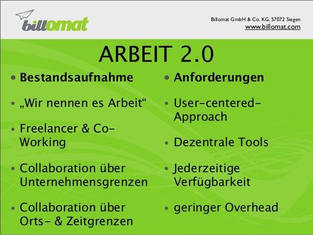 Billomat GmbH & Co. KG, 57072 Siegen                                 www.billomat.com SAAS BEI BILLOMATIT-Infrastruktur   ...
