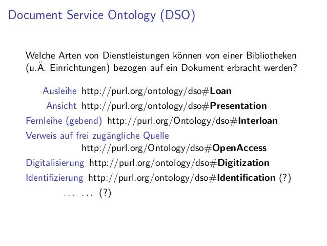 Simple Service Status Ontology (SSSO)      Mikro-Ontologie zur Definition von Service      Ein Service ist ein Ereignis mit...