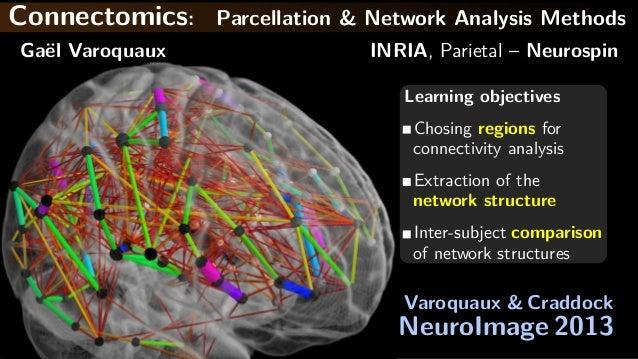 Connectomics: Parcellation & Network Analysis MethodsGa¨el Varoquaux INRIA, Parietal – NeurospinLearning objectivesChosing...