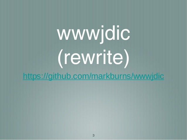 Introduction to wwwjdic project Slide 3