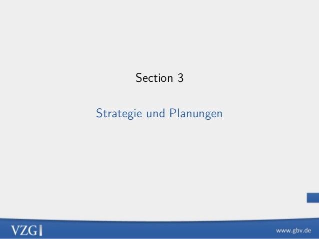 Section 3 Strategie und Planungen