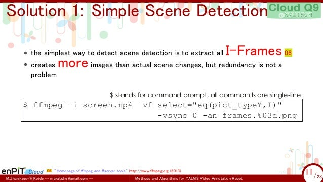 Methods and Algorithms for Automatic Slicing of Screen Capture Video …