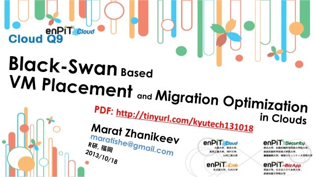 .  .  The Black Swan Property  M.Zhanikeev -- maratishe@gmail.com --  Black Swan Based VM Placement and Migration Optimiza...