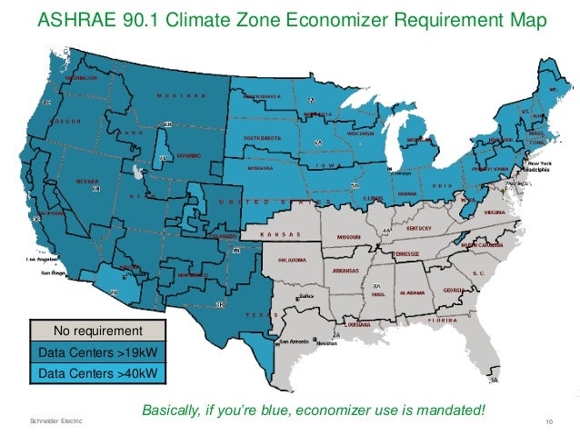 Slides The Top North America Data Center Trends For Cooling - Ashrae climate zone map