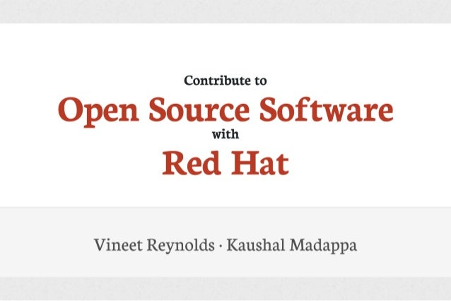 Contribute to Open Source Software with Red Hat