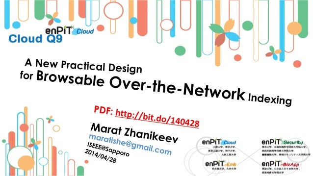 . The Over-the-Network Problem M.Zhanikeev -- maratishe@gmail.com -- A New Practical Design for Browsable Over-the-Network...