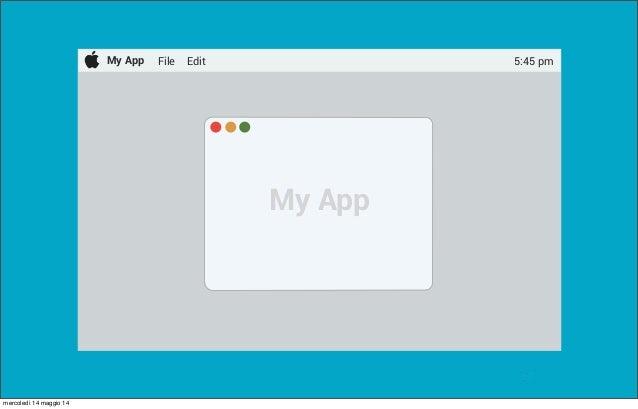 @pracucci My App File Edit 5:45 pm My App mercoledì 14 maggio 14