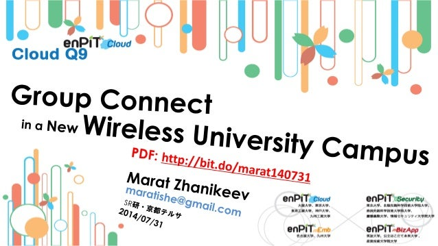 . Wireless Contention Problem M.Zhanikeev -- maratishe@gmail.com -- Group Connect is a New Wireless University Campus -- h...