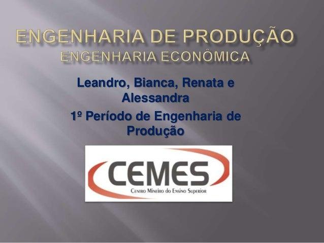 Leandro, Bianca, Renata e Alessandra 1º Período de Engenharia de Produção