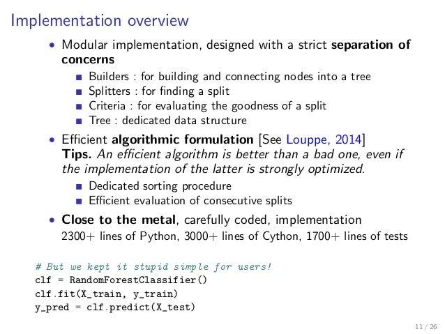 Accelerating Random Forests in Scikit-Learn