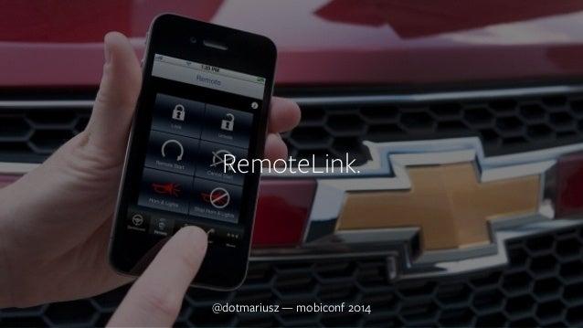 `  RemoteLink.  @dotmariusz — mobiconf 2014