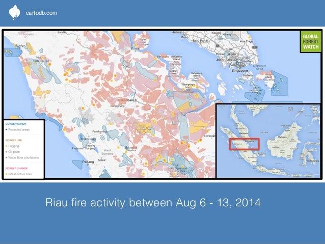 cartodb.com  West Kalimantan fire activity between Aug 6 - 13, 2014