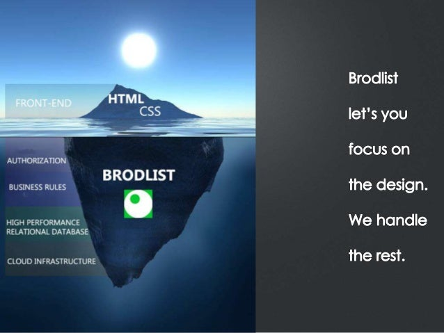 Brodlist: Back-end as a service, Walk through for Front-end developers