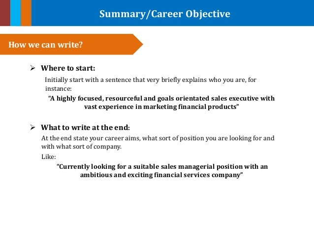 what to write in an objective for a resume