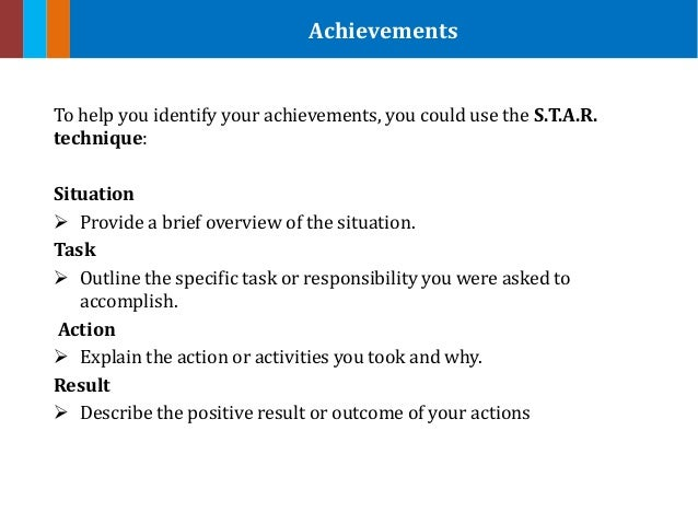 summarize your achievements example