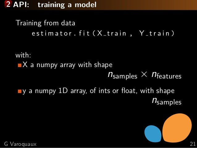 Scikit-learn for easy machine learning: the vision, the tool