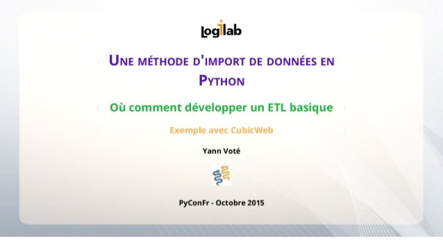 Importer des données en Python avec CubicWeb 3.21