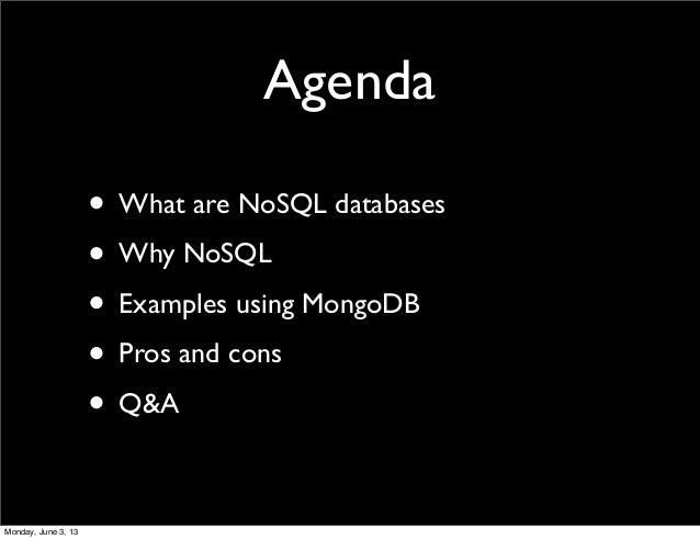 Introduction to NoSQL with MongoDB Slide 2