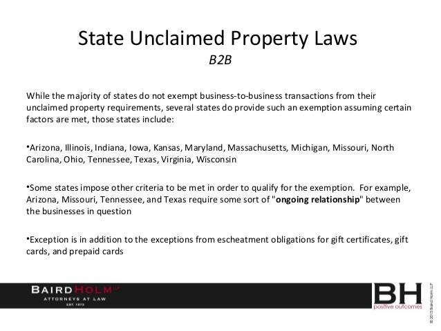 Massachusetts Unclaimed Property Laws