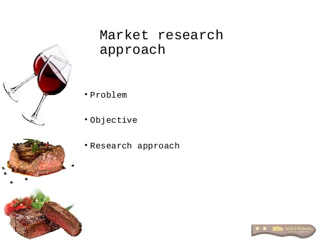 Market research approach • Problem • Objective • Research approach